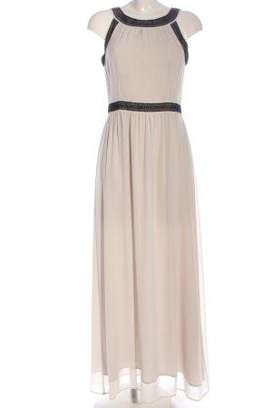 H&M Abendkleid wollweiß-schwarz Elegant