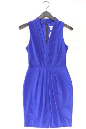 H&M Abendkleid Größe 34 Ärmellos blau aus Polyester