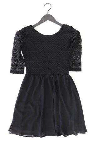H&M Abendkleid Größe 36 3/4 Ärmel schwarz aus Polyester