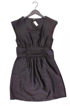 H&M Abendkleid Größe 36 mit Gürtel Kurzarm schwarz aus Polyester