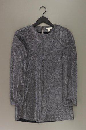 H&M Abendkleid Größe 36 neuwertig Langarm silber aus Polyester