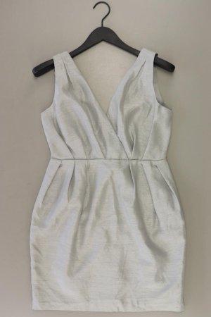 H&M Abendkleid Größe 38 Ärmellos grau aus Polyester