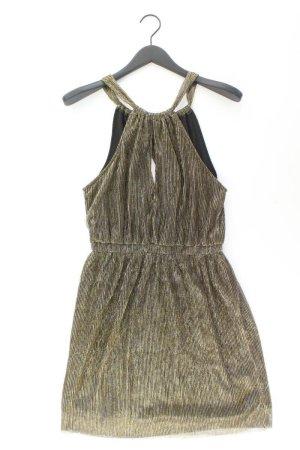 H&M Abendkleid Größe 38 Träger mit Glitzer gold aus Polyester