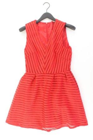 H&M Abendkleid Größe 42 Ärmellos rot aus Polyester