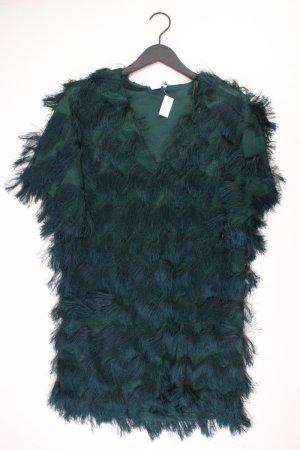 H&M Abendkleid Größe M Kurzarm grün aus Polyester