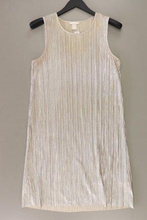 H&M Abendkleid Größe M neuwertig Ärmellos silber aus Polyester