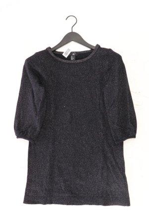 H&M Abendkleid Größe S 3/4 Ärmel mit Glitzer schwarz aus Polyamid