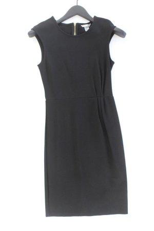 H&M Abendkleid Größe XS Kurzarm schwarz aus Viskose