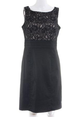 H&M Abendkleid schwarz-creme Romantik-Look