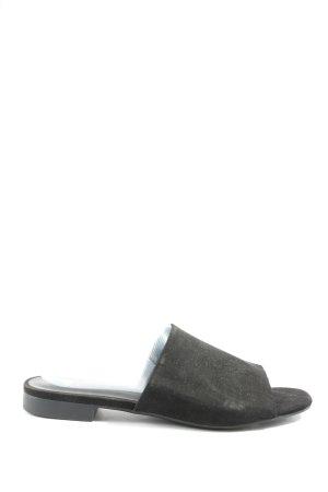 H&M Absatz Pantoletten schwarz Casual-Look