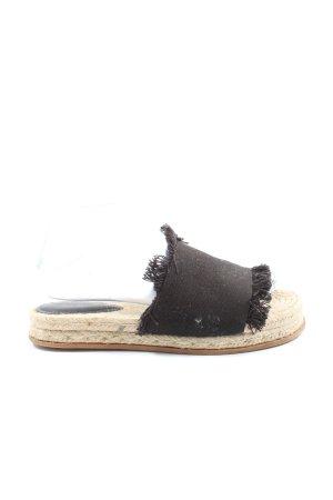 H&M Espadrilles-Sandalen creme-schwarz Casual-Look