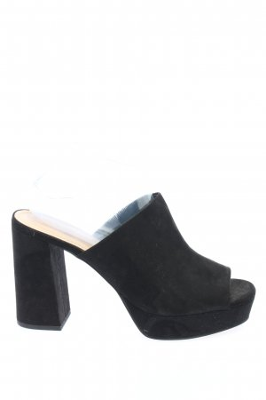 H&M Heel Pantolettes black casual look