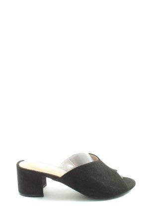 H&M Heel Pantolettes black elegant