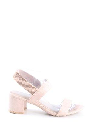 H&M Heel Pantolettes cream casual look