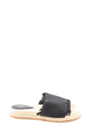 H&M Sandalias de playa negro look casual