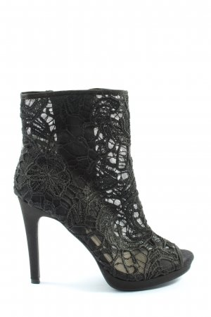 H&M Absatz Stiefel schwarz Webmuster Casual-Look