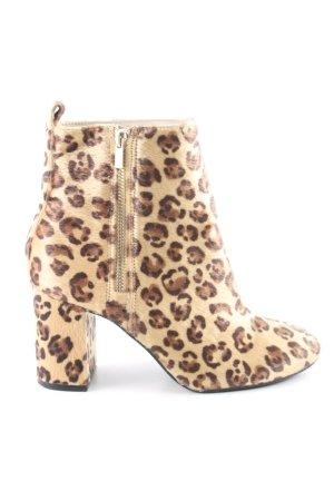 H&M Absatz Stiefel creme-braun Leomuster extravaganter Stil