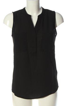 H&M Bluzka bez rękawów czarny W stylu casual