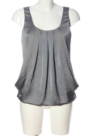 H&M ärmellose Bluse hellgrau Elegant