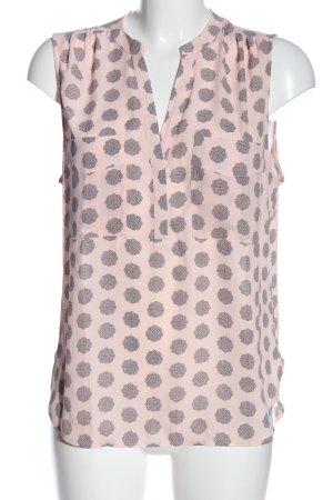 H&M ärmellose Bluse pink-schwarz Allover-Druck Casual-Look