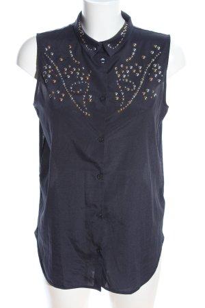 H&M ärmellose Bluse blau Elegant