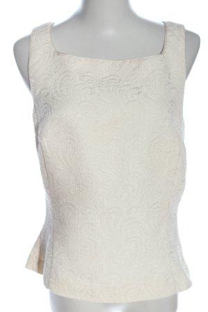 H&M ärmellose Bluse wollweiß Elegant