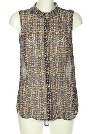 H&M ärmellose Bluse Allover-Druck Business-Look