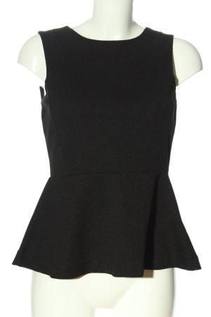 H&M Peplum Top black weave pattern casual look