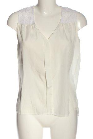 H&M ärmellose Bluse creme-weiß Casual-Look