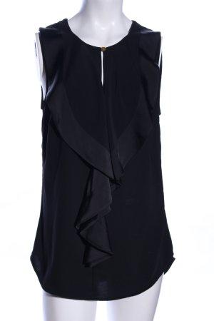 H&M ärmellose Bluse schwarz Elegant