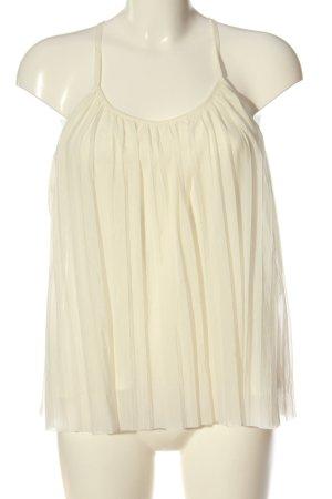 H&M ärmellose Bluse wollweiß schlichter Stil