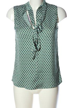 H&M ärmellose Bluse grün-weiß Casual-Look