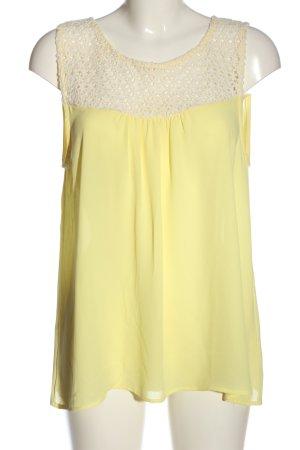 H&M ärmellose Bluse blassgelb Casual-Look