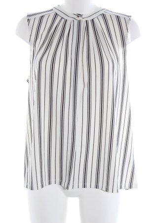 H&M ärmellose Bluse weiß-schwarz Allover-Druck Business-Look