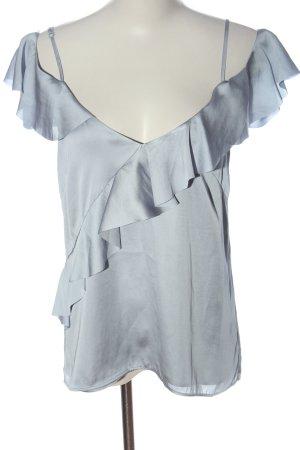 H&M ärmellose Bluse blau Casual-Look