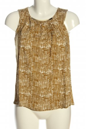 H&M ärmellose Bluse creme-braun Casual-Look