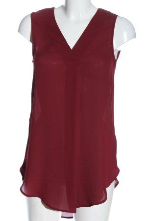 H&M ärmellose Bluse rot Business-Look