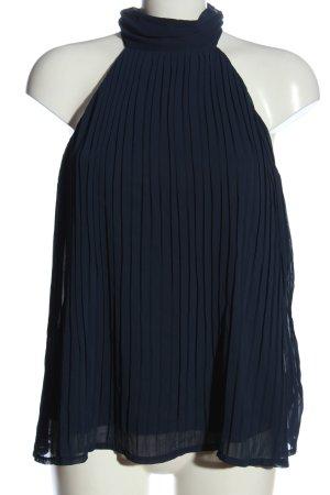 H&M ärmellose Bluse blau extravaganter Stil
