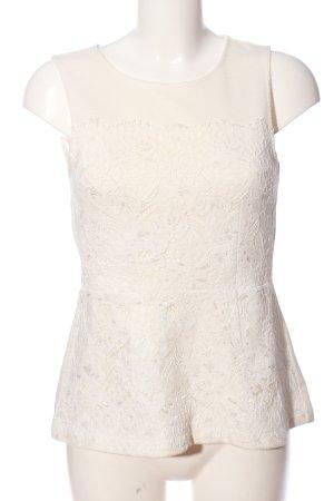 H&M ärmellose Bluse wollweiß Casual-Look