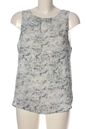 H&M ärmellose Bluse weiß abstraktes Muster Business-Look