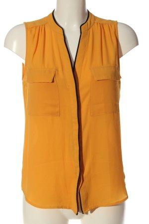 H&M ärmellose Bluse hellorange-schwarz Casual-Look