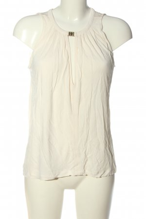 H&M ärmellose Bluse wollweiß Business-Look