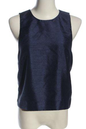 H&M ärmellose Bluse blau meliert Casual-Look