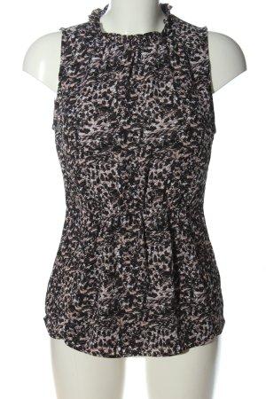 H&M ärmellose Bluse abstraktes Muster Casual-Look