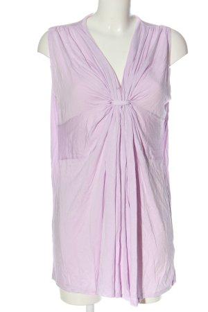 H&M ärmellose Bluse lila klassischer Stil