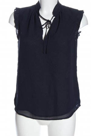 H&M ärmellose Bluse blau Business-Look