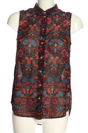H&M ärmellose Bluse Allover-Druck klassischer Stil