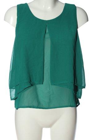 H&M ärmellose Bluse grün Elegant
