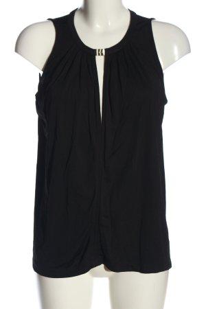 H&M ärmellose Bluse schwarz Business-Look