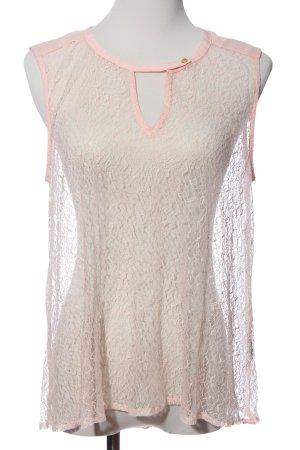 H&M ärmellose Bluse pink Transparenz-Optik